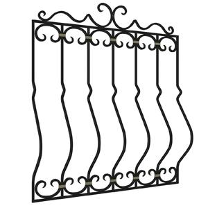 Оконная решетка с использованием элемента 'Французский профиль'