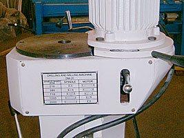 таблица скоростей радиально-сверлильного станка MetalMaster TDR-20