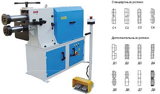 Электромеханическая зиговочная машина MetalMaster ЕTZ 40