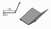 Фальш ендова доборный элемент для кровли на листогибе Van Mark