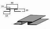 Планка соединения доборный элемент для кровли на листогибе Van Mark