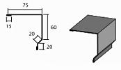 Планка торцевая 2 доборный элемент для кровли на листогибе Van Mark