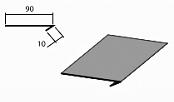 Планка завершающая доборный элемент для кровли на листогибе Van Mark
