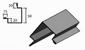 Угол наружный сложный доборный элемент для кровли на листогибе Van Mark