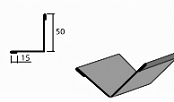 Угол внутренний доборный элемент для кровли на листогибе Van Mark