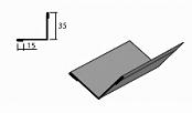 Угол внутренний доборный 2 элемент для кровли на листогибе Van Mark
